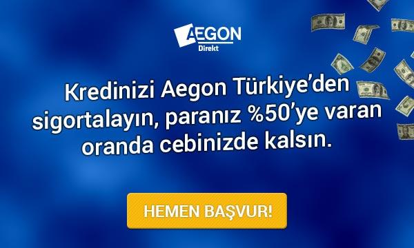 Aegon Türkiye ile paranız %50'ye varan oranda cebinizde kalsın !